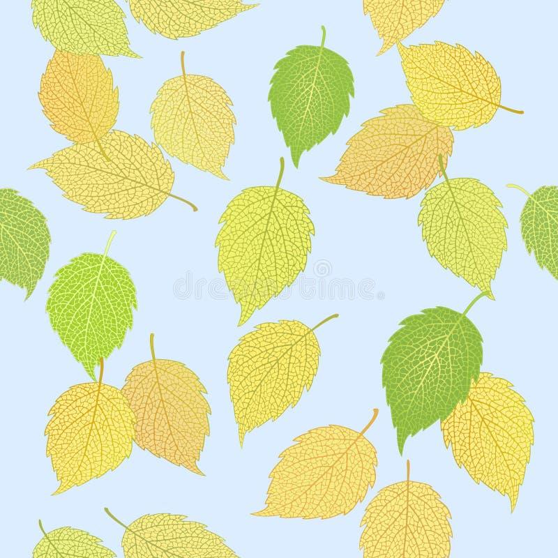 Wzór z eleganckimi jesień liśćmi ilustracji