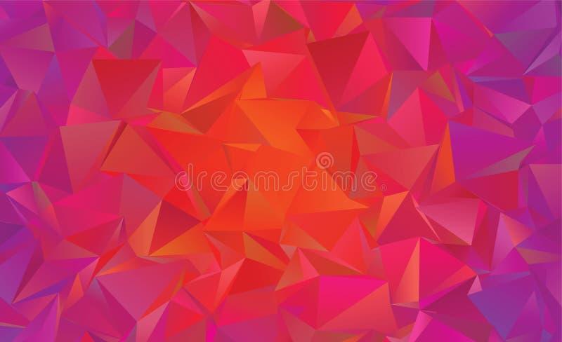 Wzór z kolorowym tłem Geometryczny halftone styl Wektorowa klamerki sztuka obraz stock