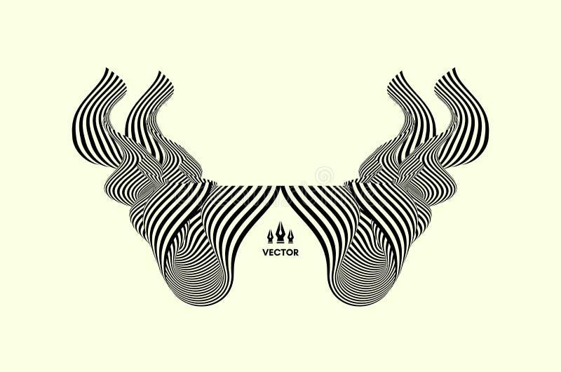 Wzór z okulistycznym złudzeniem Abstrakta 3d geometrical tło również zwrócić corel ilustracji wektora ilustracji