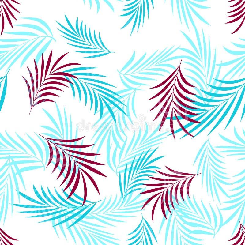 Wzór z palmowymi liśćmi ilustracji