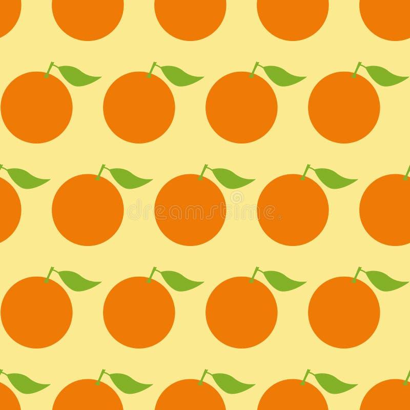 Wzór z pomarańczami royalty ilustracja