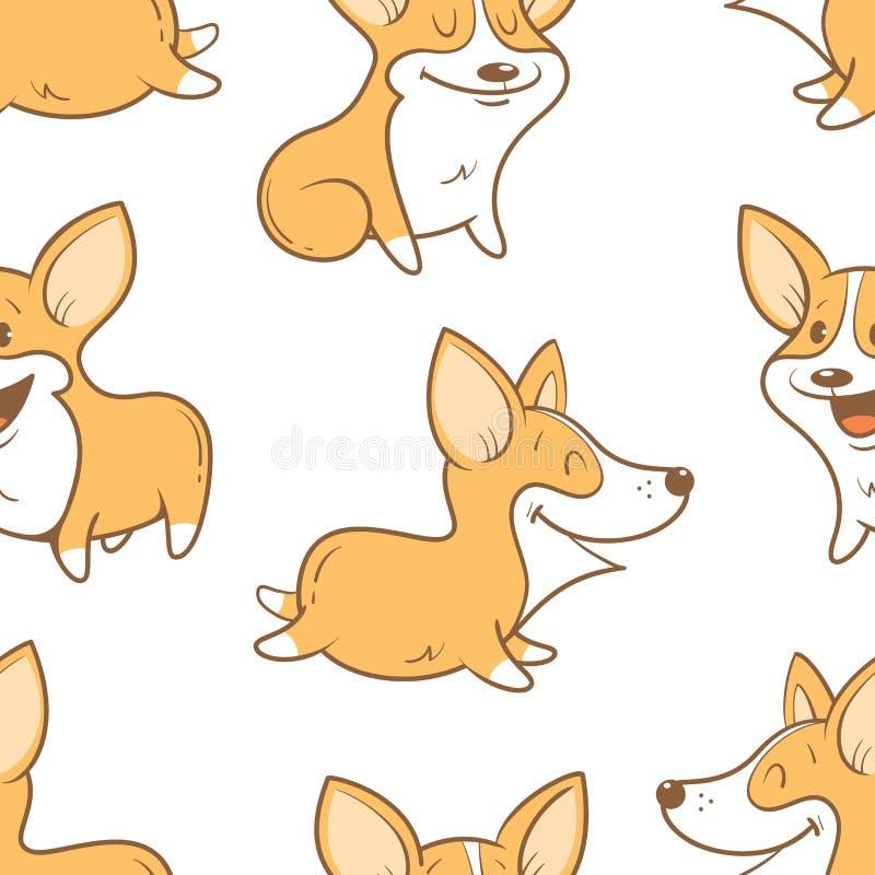 Wzór z psami royalty ilustracja
