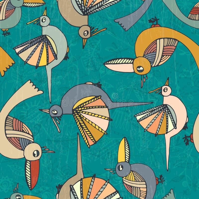 Wzór z ptakami ilustracja wektor