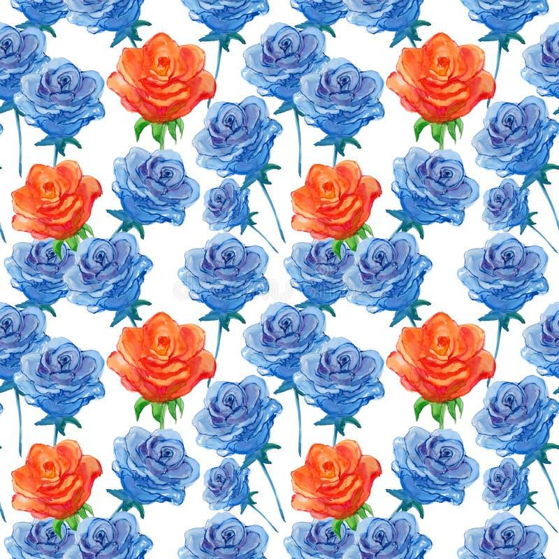 Wzór z różami ilustracja wektor