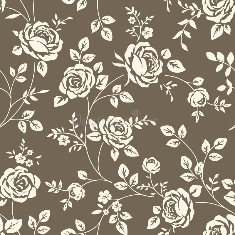 Wzór z różami royalty ilustracja