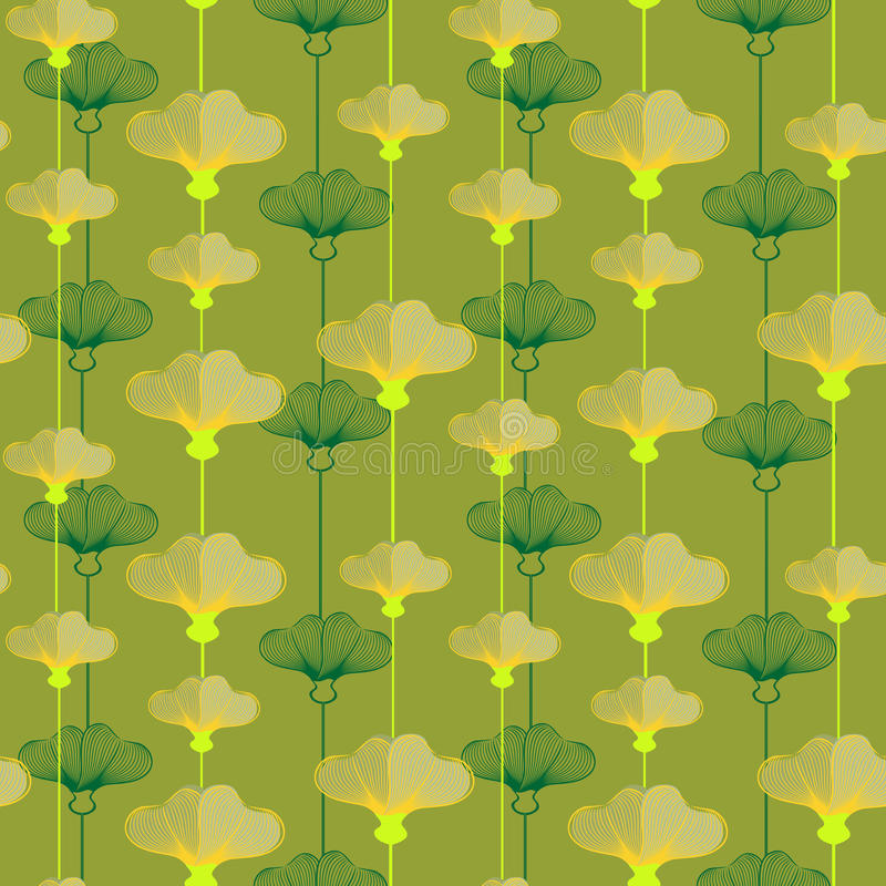 Wzór Z Yellowcup kwiatami ilustracji