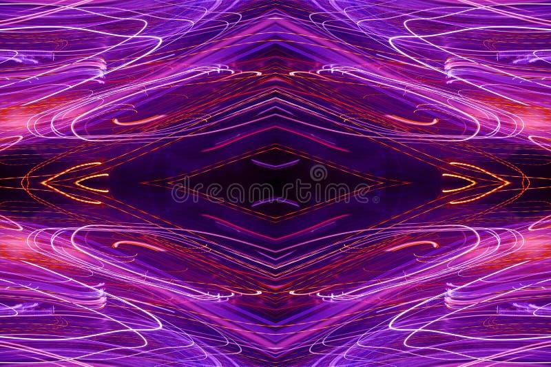 wz?r abstrakcyjne neon ilustracja wektor