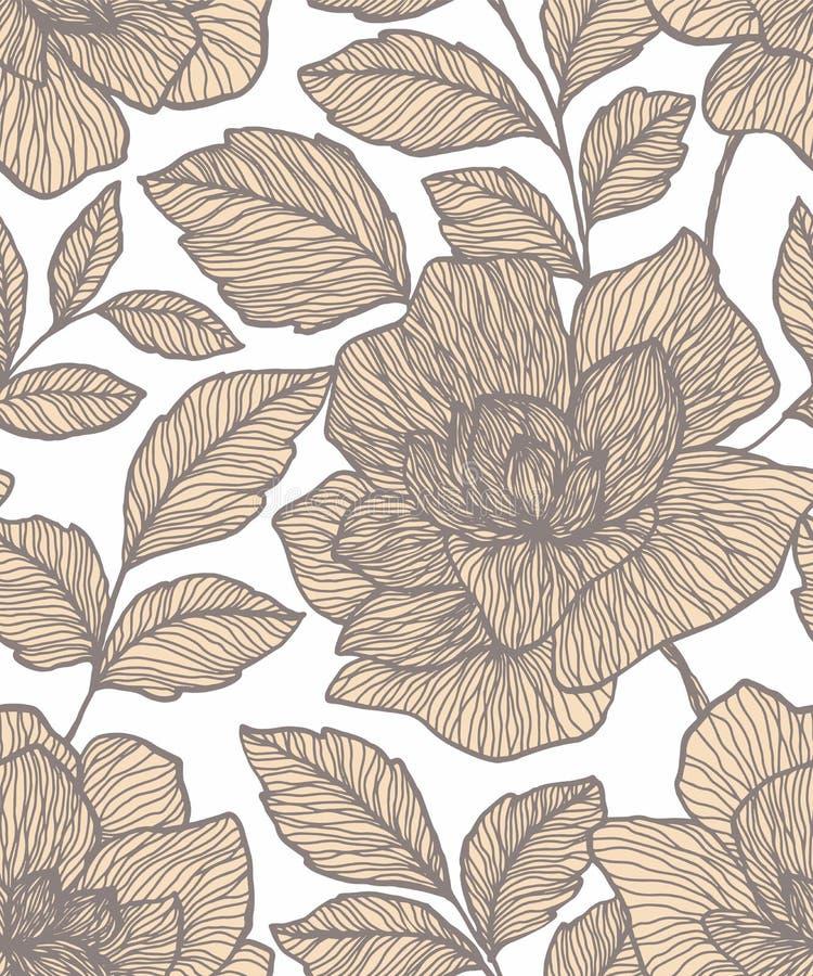 wz?r bezszwowy abstrakcyjne kwiat Kreatywnie kwiecisty nawierzchniowy projekt Projekt dla tkaniny, tapeta, opakowanie, pokrywa royalty ilustracja