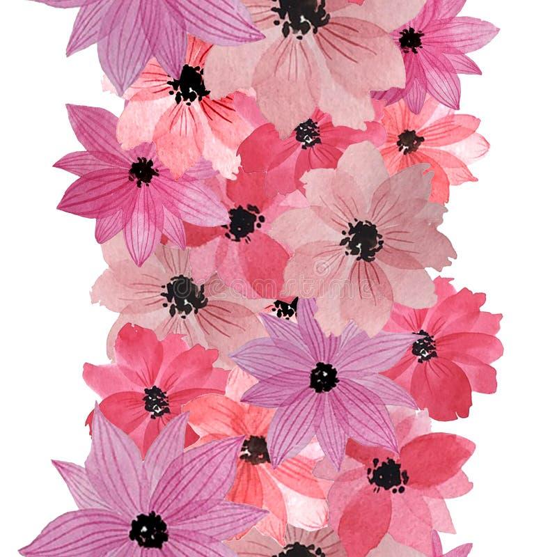 wz?r pisze kwiaty ja obrazu obrazka akwarela ilustracja wektor