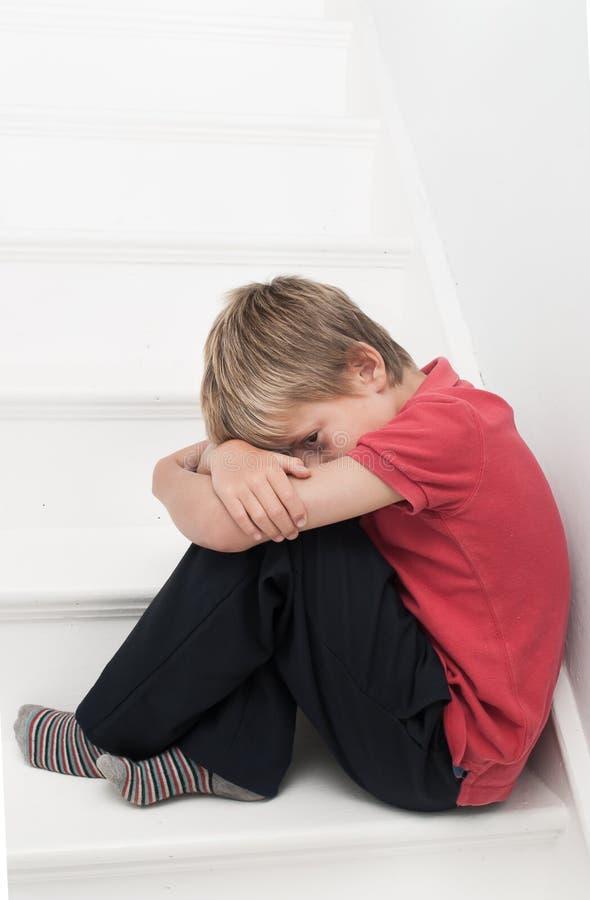 Wzburzona chłopiec zdjęcia stock