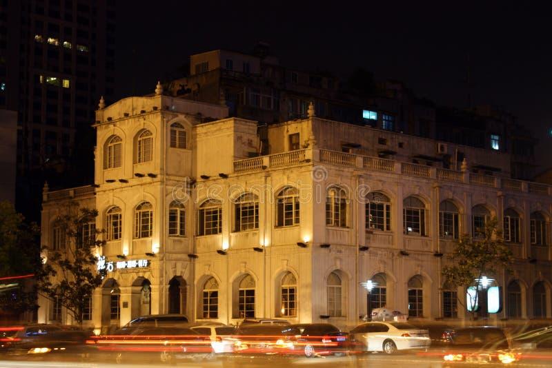 wzdłuż budynków historyczny długi rzeczny Wuhan zdjęcie stock