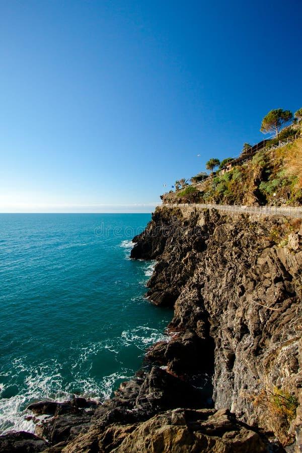 Wzdłuż Cinque Terre wybrzeża fotografia stock