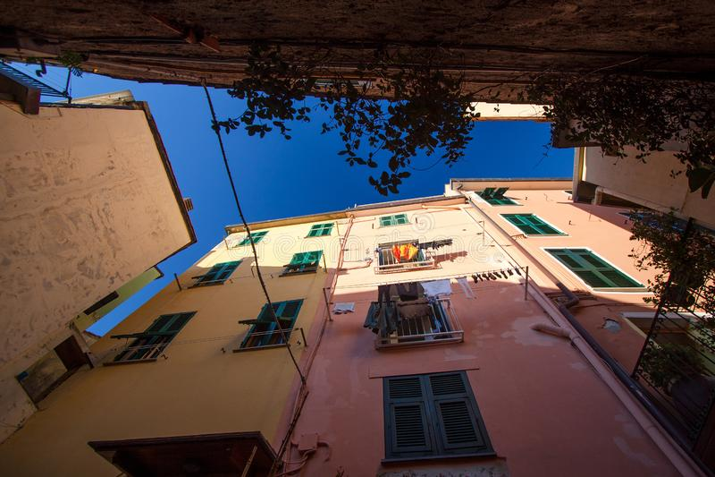 Wzdłuż Cinque Terre wybrzeża obraz royalty free