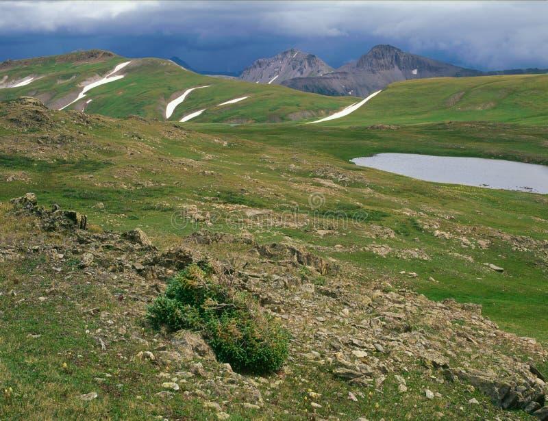 Wzdłuż Kolorado śladu, San Juan pasmo, południowo-zachodni Kolorado zdjęcie stock
