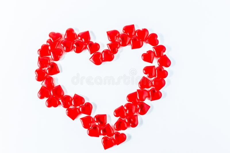 wzdłuż tło koloru płynący serca wiosłują płynnie valentine Walentynki Czerwona Abstrakcjonistyczna tapeta tło kolaż zdjęcie stock