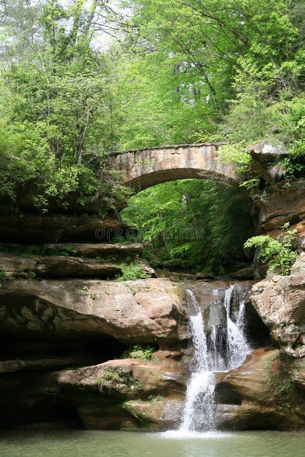 wzgórza hocking wodospad obraz stock