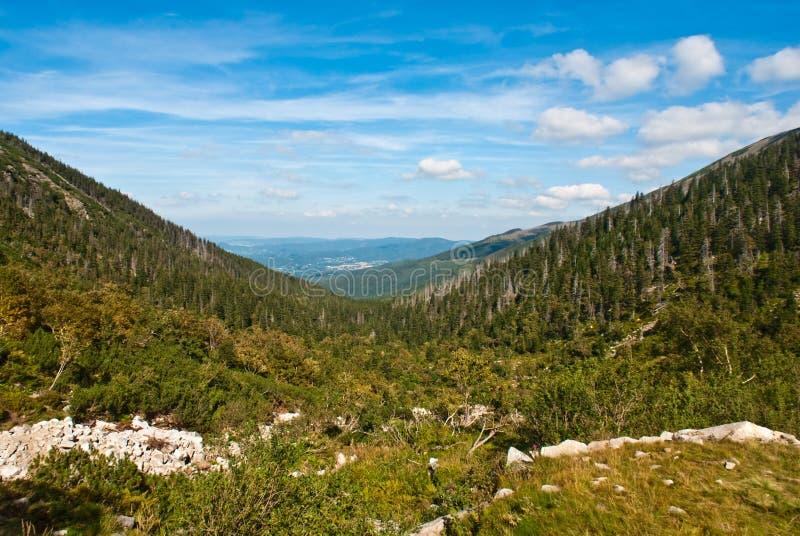 wzgórza kształtują teren góry dolinę dwa obrazy stock