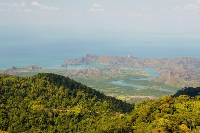 wzgórza Langkawi morza niebo obraz royalty free