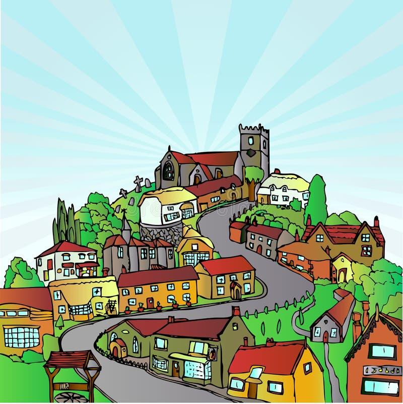 wzgórza miasta ilustracja wektor
