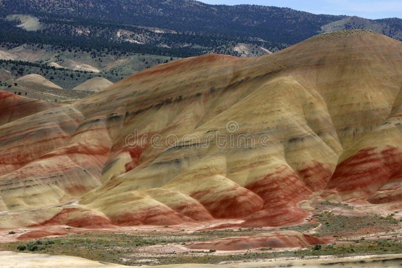 wzgórza Oregon malujący obraz stock