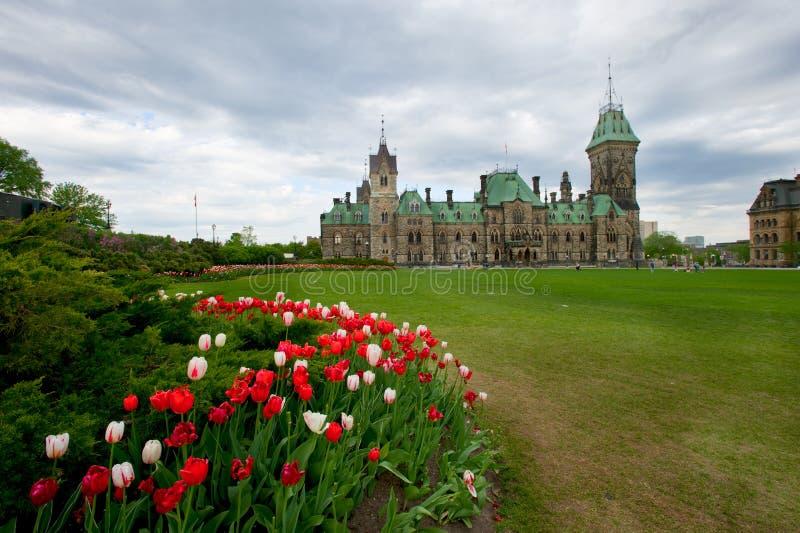 wzgórza Ottawa parlament obraz stock