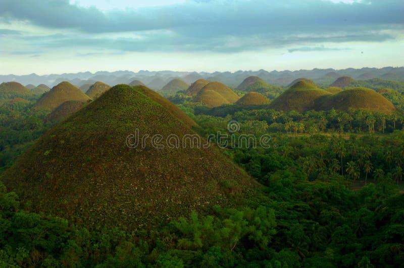 wzgórza Philippines czekoladowe zdjęcie stock