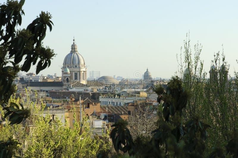 wzgórza pincio Rome widok zdjęcia stock