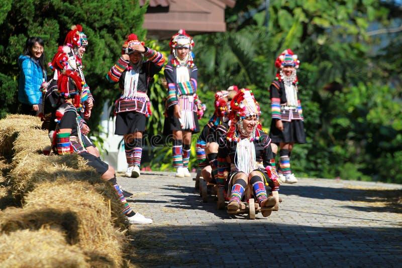 Wzgórza plemienia drewniana fura obrazy stock