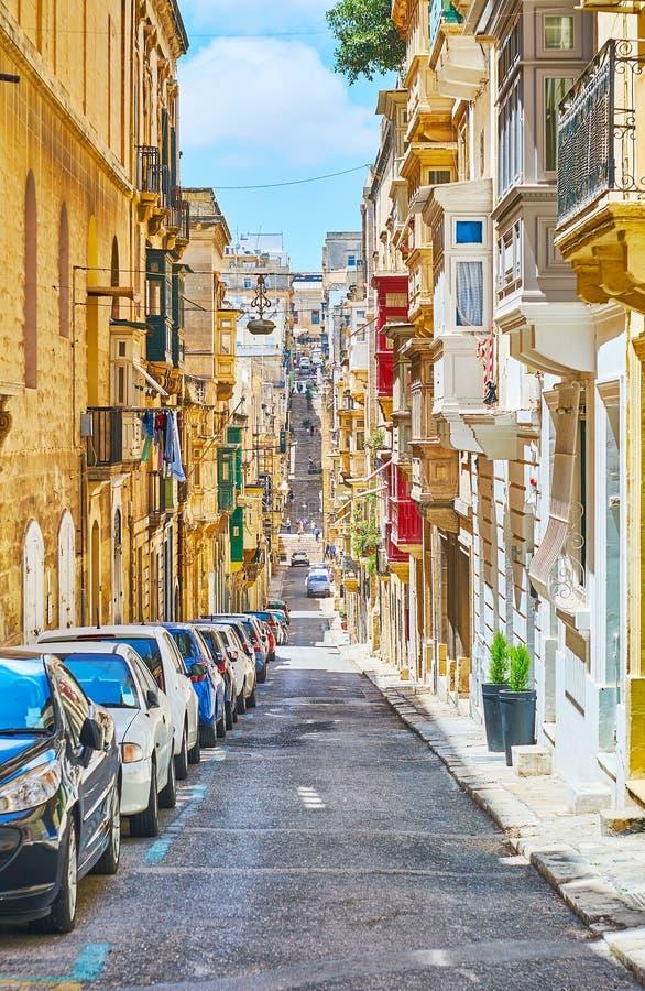 Wzgórza Valletta, Malta obraz stock