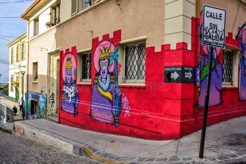 Wzgórza Valparaiso obrazy royalty free