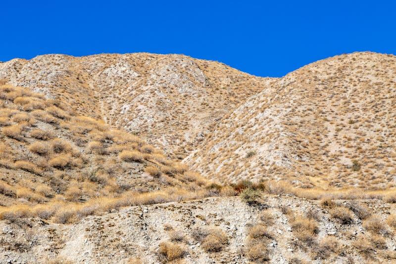 Wzgórza w kalifornijczyk pustyni obraz stock