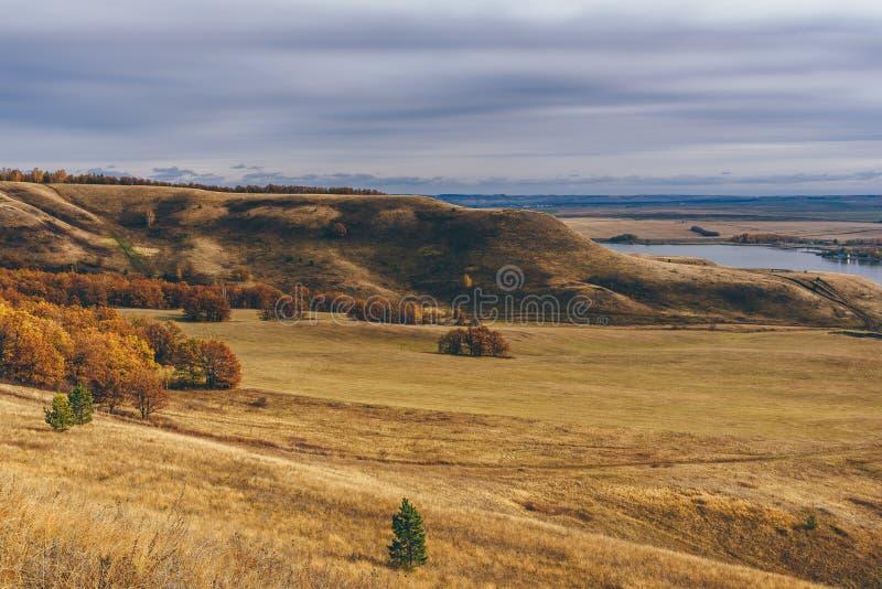 Wzgórza z jesiennym lasem obraz stock