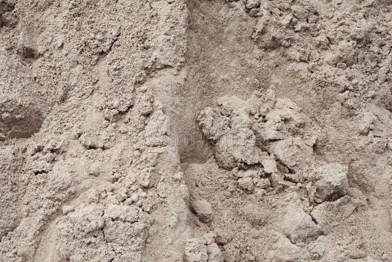 Wzgórze budynku piaska szary zakończenie obrazy stock
