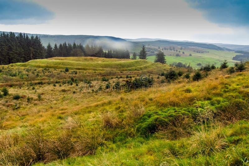 Wzgórze fort Eskdalemuir zdjęcie stock