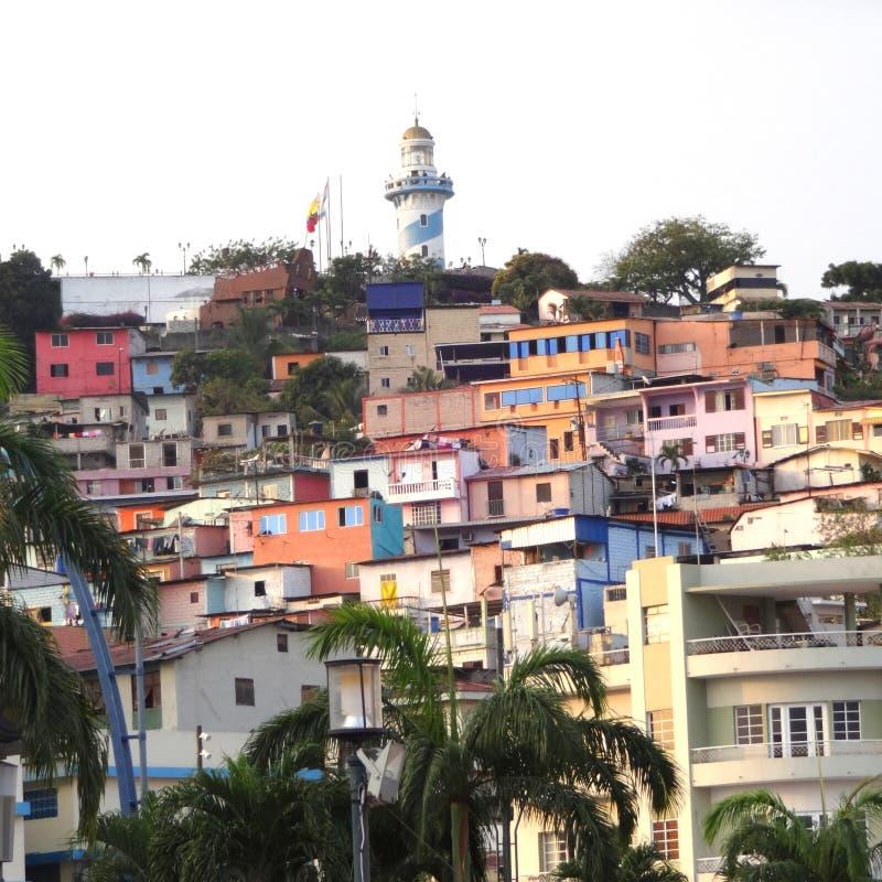 Wzgórze Guayaquil peñas obrazy royalty free
