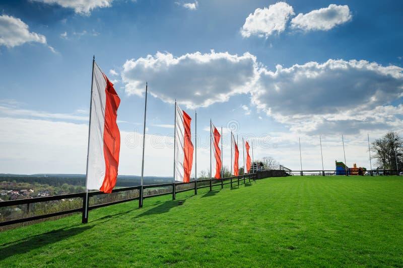 Wzgórze i połysk flaga fotografia royalty free