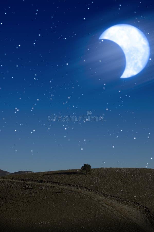 wzgórze noc royalty ilustracja