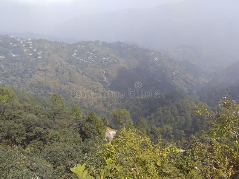 Wzgórze odgórny widok Kura pasmo zdjęcie stock