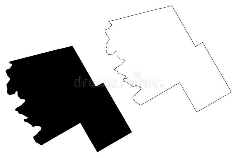 Wzgórze okręg administracyjny, Teksas okręgi administracyjni w Teksas, Stany Zjednoczone Ameryka, usa, U S , USA mapy wektorowa i ilustracja wektor