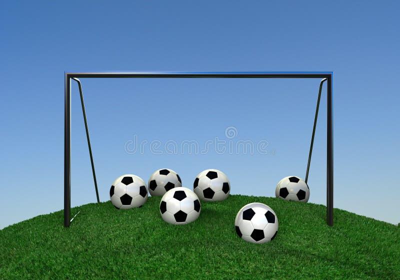 wzgórze piłka nożna ilustracja wektor