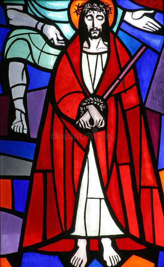 wzgardzony śmiertelny Jesus zdjęcia royalty free