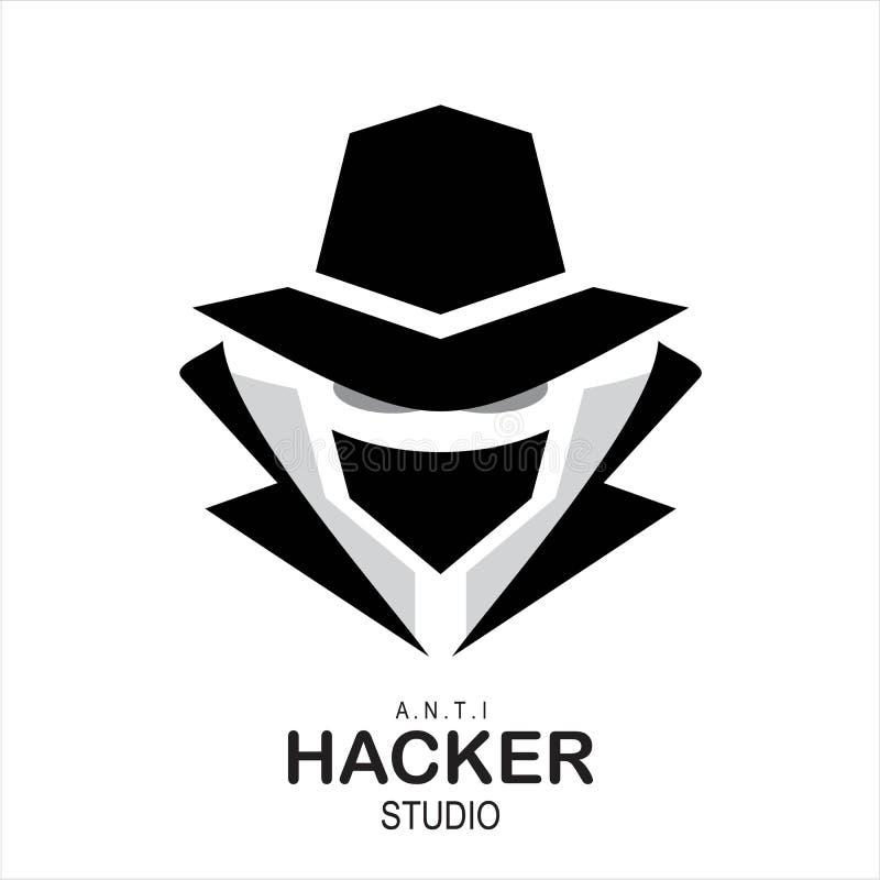 Wzierny agent, tajny agent, hacker royalty ilustracja
