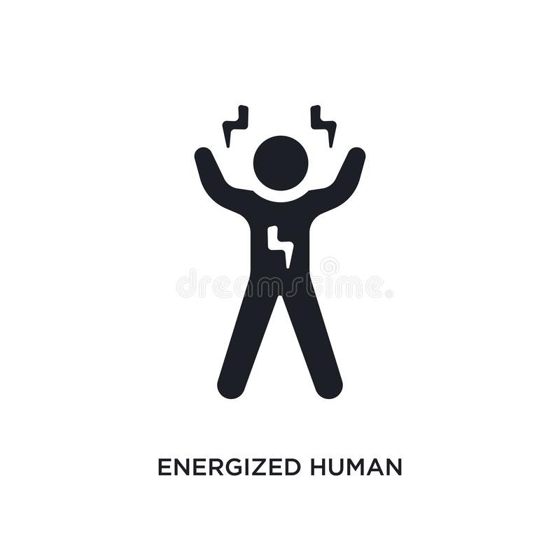 wzmacniająca istoty ludzkiej odosobniona ikona prosta element ilustracja od uczucia pojęcia ikon wzmacniający ludzki editable log ilustracji