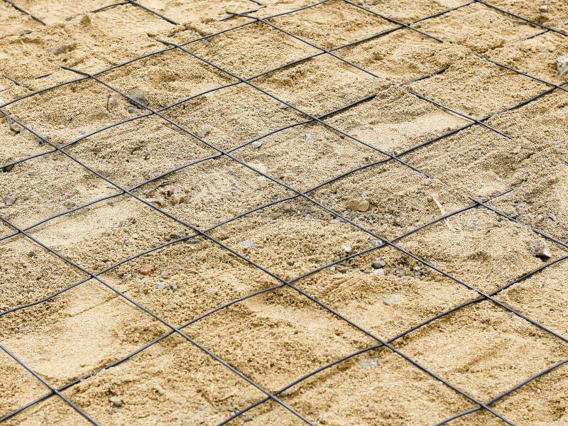 Wzmacnień stalowy narządzanie dla cementu zdjęcie royalty free