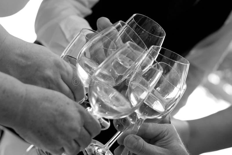 Wznosić toast dla najlepszy momentów fotografia stock