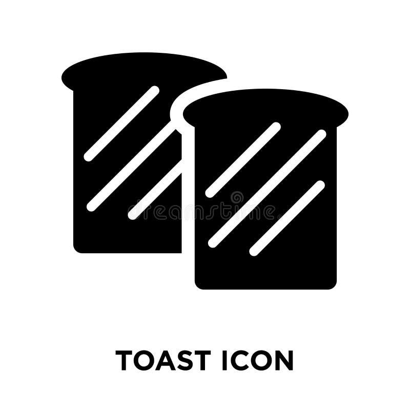 Wznosi toast ikona wektor odizolowywającego na białym tle, loga pojęcie ilustracja wektor