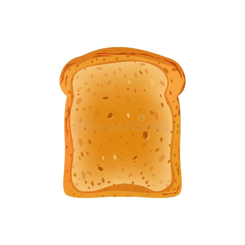 Wznoszący toast chleb dla kanapka projekta wektorowej ilustracji odizolowywającej na białym tle ilustracji