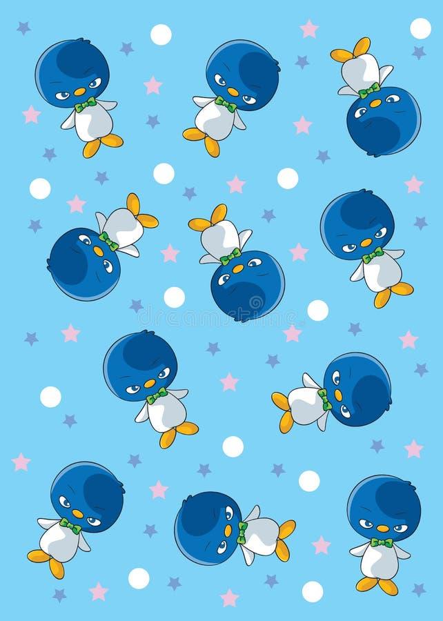 Wzorów pingwiny z gwiazdą ilustracji