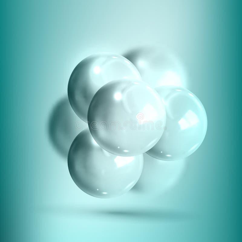 Wzorcowa Cząsteczkowa struktura nanotechnologia wektor ilustracji