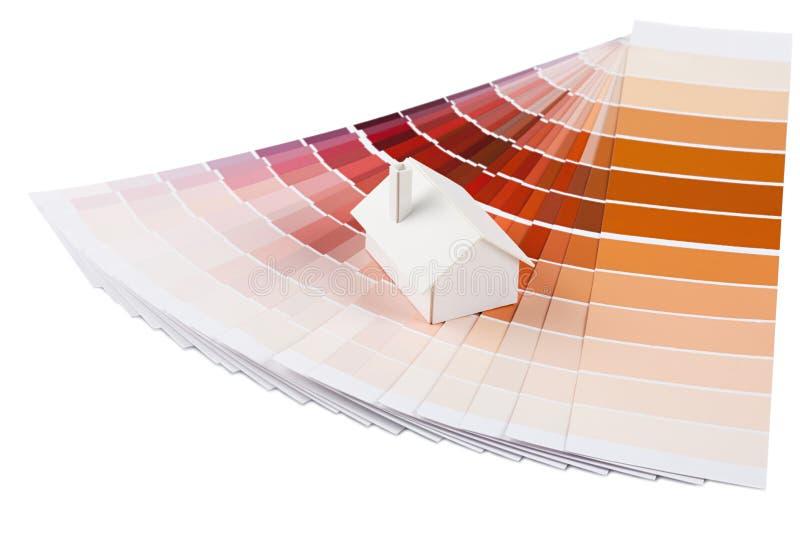 Wzorcowy dom na kolor palecie zdjęcie stock